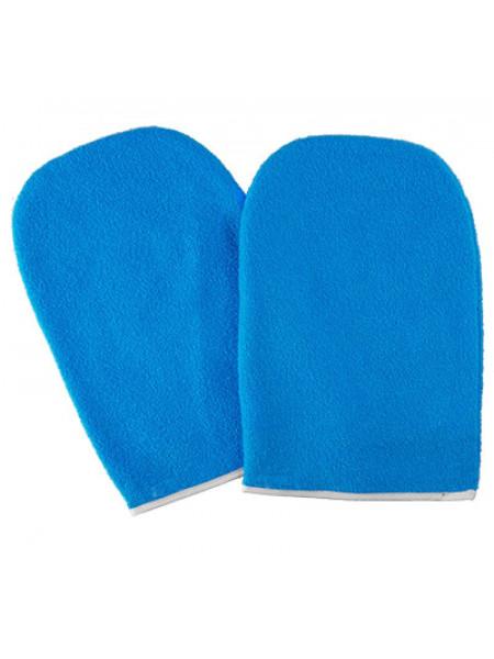 Варежки для парафинотерапии махровые голубые