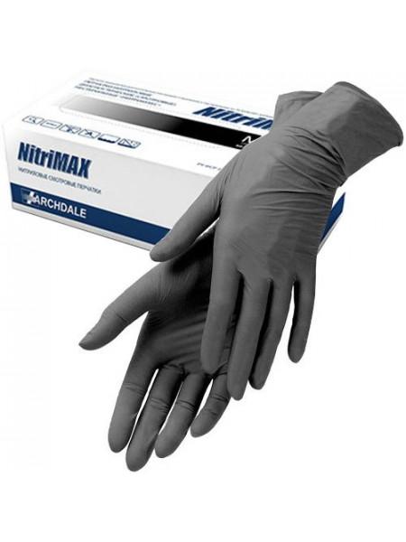 Перчатки нитриловые чёрные NitriMax, S 50 пар.